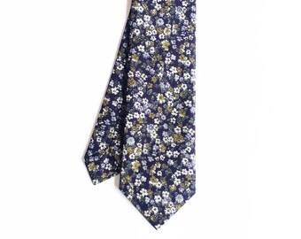 Dylan - Navy/Mustard Floral Men's Tie