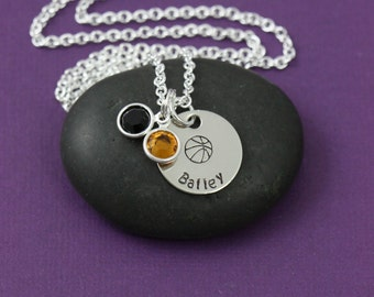 SALE - Basketball Team Necklace - Personalized Basketball Jewelry - Girls Basketball Gift - Custom Coaches Jewelry - Girls Team Gifts