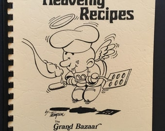 Vintage 1978 Church Cookbook - Heavenly Recipes - The Grand Bazaar Fircrest United Methodist Church