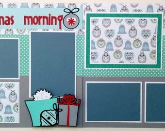 Christmas scrapbook page - Christmas scrapbook layout - Scrapbook layout Christmas - Premade Christmas scrapbook page -12x12 Christmas page