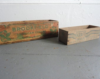 Couple of Old Wooden Cheese Boxes