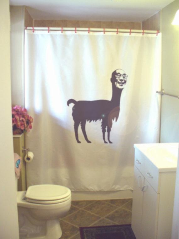 items similar to dalai llama shower curtain lama pun tibet tibetan buddhism humor funny bathroom. Black Bedroom Furniture Sets. Home Design Ideas