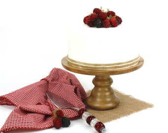 Sweet Gum Cake Stand, Turned Wood Cake Platter, Cake Pedestal, Wedding Cake Stand, Cupcake Stand, Dessert Pedestal, Hostess and Gourmet