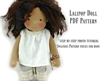 Lali Pop Doll - Kit and pdf Pattern