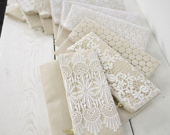 Bridesmaid lace clutch | Ivory bridal lace purse