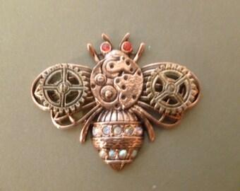 Steampunk Bee - Magnet