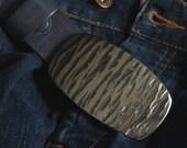 "Blue Jean Belt Buckle Silver & Denim City/Western Wear Unisex Accessories Stainless Steel  Hypoallergenic Accessories Fits 1.5"" Leather Belt"