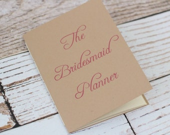 bridesmaid planner - maid of honor - matron of honor - organizer - jotter - wedding planner - bridal shower planning - budget - minimalist