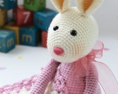 PDF Pattern for Snuggly Boo and Blankie  - Crochet Rabbit Bunny