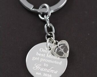 Grandma Gift Keychain, Personalized Grandma Gifts, Grandma to Be, Grandmother Gift