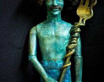 Merman King Altered Doll