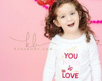 Valentine's Day Headband, Heart Headband, Red Glitter Hearts, Love, XOXO, Girl