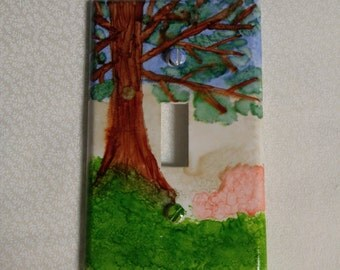 Tree light switch plate