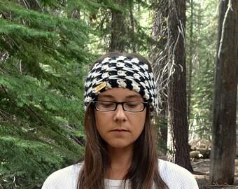 Winter Headband Ear Warmer Chunky Crochet Knitted Ear Warmer Chevron Stripe More Custom Color Options