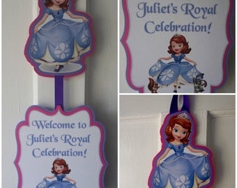 Sofia the First Door Sign