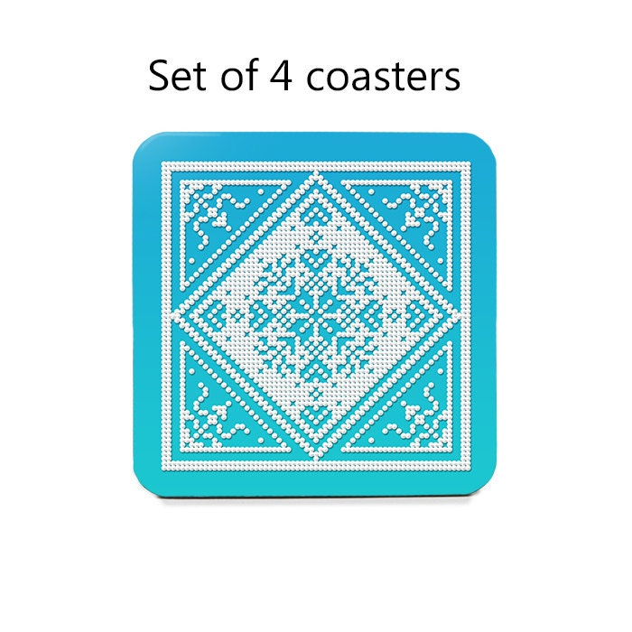Christmas Coasters Nordic Coaster Set Drink By Fischerfinearts