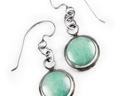 Classy Aventurine and Sterling Silver Earrings