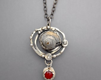 Ammonite Cage Necklace