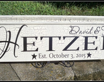 Family sign, wedding signs, signs, custom signs, family name sign, rustic sign, last name sign, shabby chic home decor, established sign