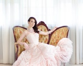 1950s Wedding Dress - 50s Rose Quartz Wedding Dress - Sugared Love