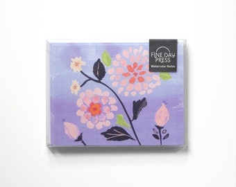 Note Cards, Thank You Notes, Note Card Set, Blank Note Cards, Watercolor Floral Notes