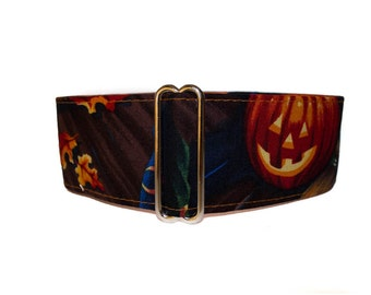 Halloween Martingale Collar, 2 Inch Martingale Collar, Pumpkin Martingale Collar, Orange and Black, Halloween Dog Collar, Pumpkin Dog Collar