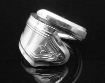 Vintage Art Deco Spoon Ring, Duchess 1923