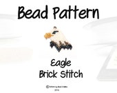 Bald Eagle Seed Bead Pattern, Brick Stitch, Patriotic Charm Jewelry | PDF Digital Download