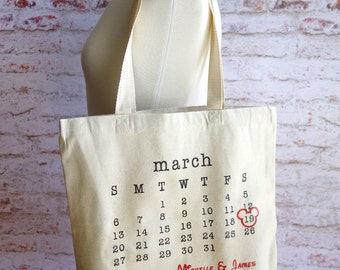Disney Bride, Disney Wedding, Wedding Tote Bag, personalized tote, bridal tote, wedding date, typewriter