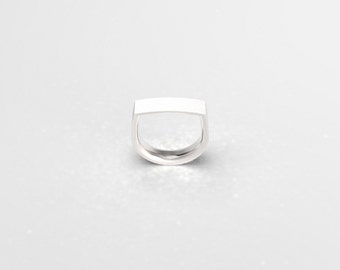 White Gold Wedding Band Ring in 585 14k Comfort Fit