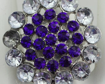 Purple Flower Ring/Statement Ring/Rhinestone/Gift For Her/Wedding Jewelry/Spring/Summer Jewelry/Under 15 USD/Adjustable