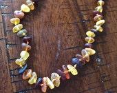 Raw Baltic Amber Teething Necklace - Multi. Unpolished.