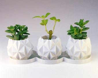 Ufo Planter Pots | Small Planters for Modern Desk Decor - Ceramic Succulent Planter Alternative