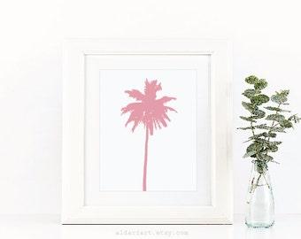 Palm Tree Art Print - Palm Tree Wall Art - Modern Decor - Minimalist Beach Art - Modern Palm Tree Print - Adari Art
