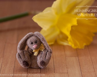 Fluffy Easter Bunny, A 1/12 scale dollhouse miniature