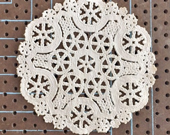 4 INCH Medallion Shabby Rustic Hand Dyed Paper Lace Doilies | You Choose the Color & Quantity, Rustic, Party + Wedding Decor, Scrapbooking