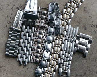 Selection of assorted watch strap bracelet parts