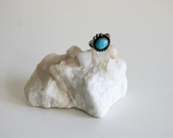 Adjustable Turquoise Ring 7.5