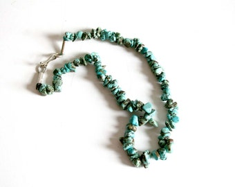 SALE Turquoise Beaded Necklace