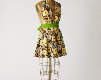 Women's Retro Apron Floral Marilyn Full Apron