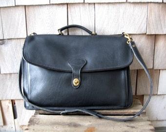 Vintage Leather Messenger Bag// Leather Laptop Briefcase// Made in USA Jack Georges