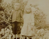 French Edwardian Photo - Brother & Sister