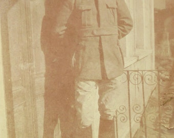 Old French Photograph - French Soldier in Prilep, Macedonia