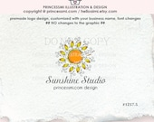 RESERVED- 1257-5  Sunshine Logo Design SUN photography logo Boutique watermark logo template
