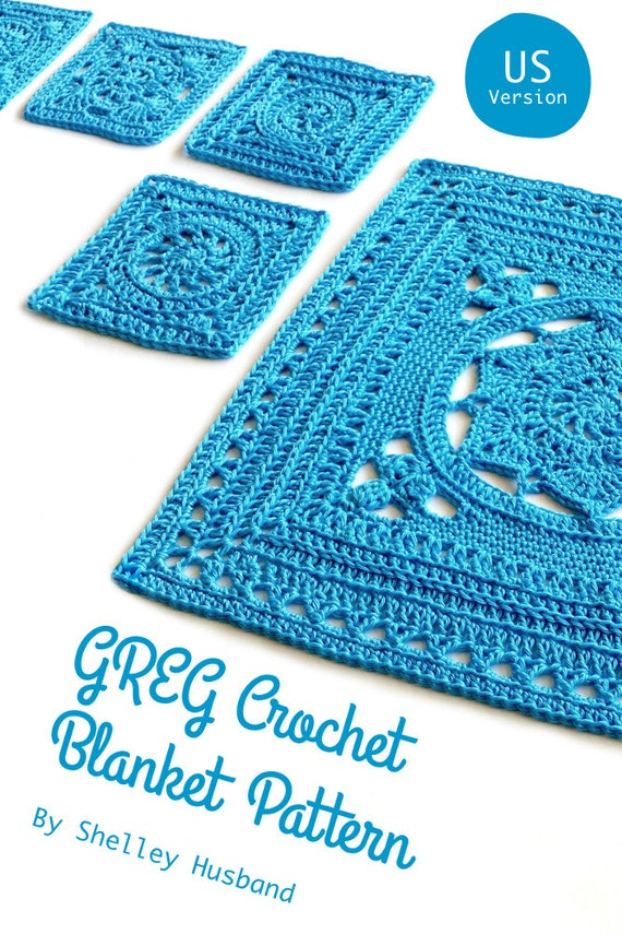 The Greg Crochet Blanket ebook US Terms crochet by Spincushions