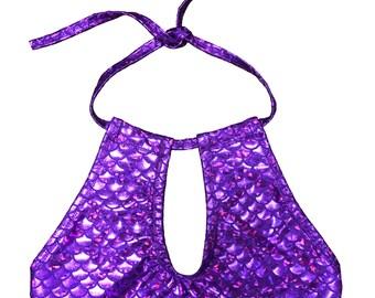 Purple Mermaid Halter Top