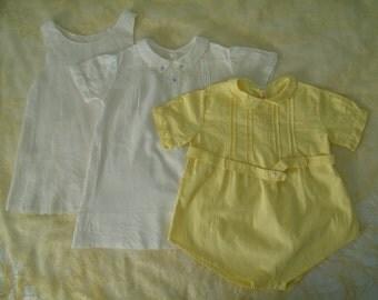 3 pc. Vintage Peter Pan Collar Baby Clothing Set, 12-18 Months