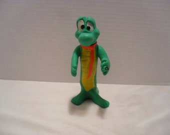 Vintage Albert Alligator 1969 Plastic Movable Toy Figurine