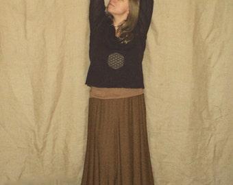 UpcYcLED Flower of life mandala sacred geometry holy longsleeve shirt blouse top ruffled L