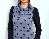 sweatshirt - blue - cuddly sweat - stars